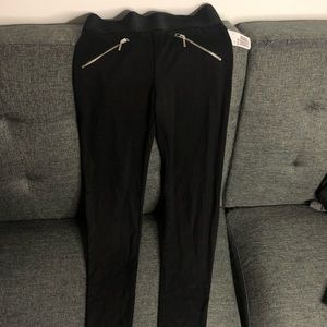 Forever 21 black zipper leggings